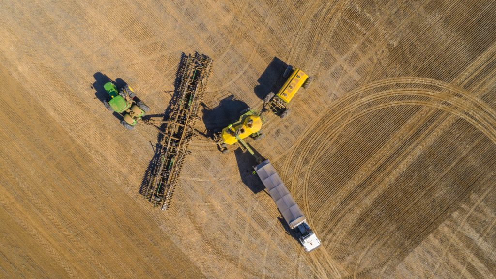 Looking down on the rigs